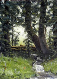 Spring in the woods 12x16